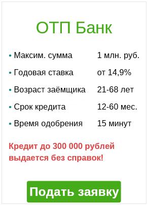 Интернет-кредит через отп банк. Подать заявку.
