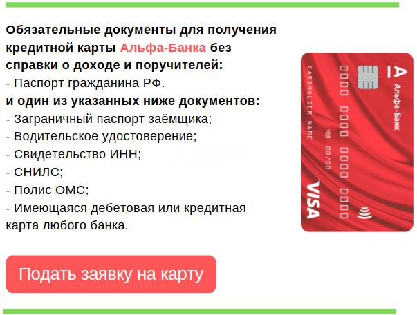 документы, необходимые для выдачи кредитки безо всяких поручителей