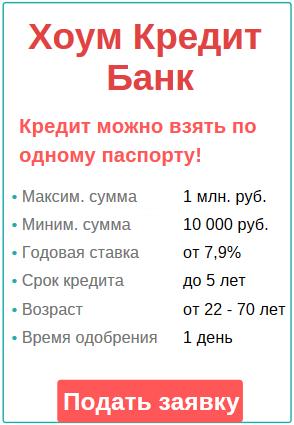 взятие кредита на 1 год в банке ХКБ