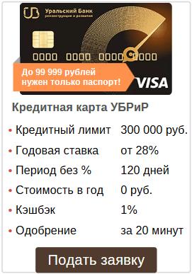 условия и онлайн оформление кредитки