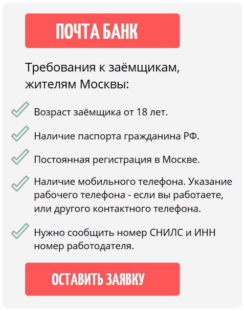 где взять кредит с просрочкой в Москве