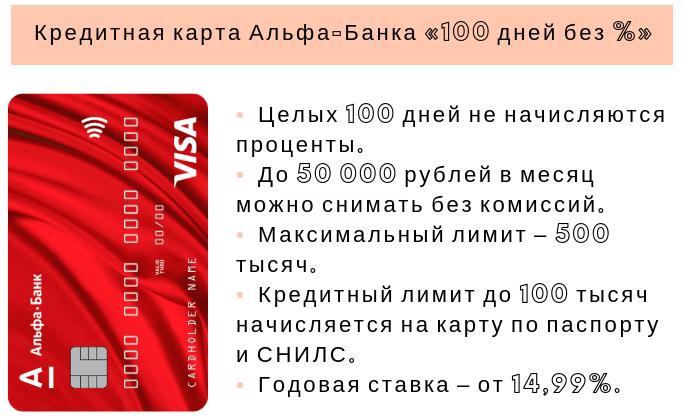 карточный кредит альфа банка по снилс и паспорту