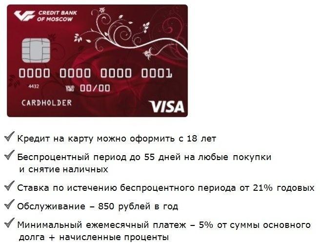 ряд условий получения кредита на карту с 18 полных лет