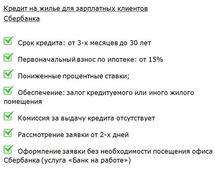 Изображение - Кредит от сбербанка для держателей зарплатных карт usloviya-sberbanka-po-zarplatnomu-ipotechnomu-kreditu