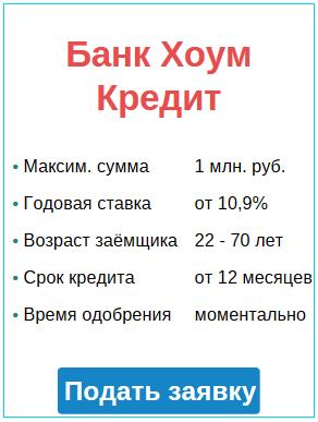 заявка и условия кредитования на год на потребительские нужды