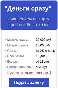 Быстрое оформление онлайн-кредита по паспорту с получением денег на.