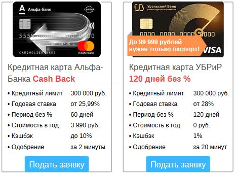 кредитные карточки, у которых снятие в банкомате без комиссии