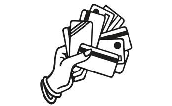 возьмите кредитные карты